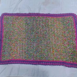 Hand Made Kitted Kids Blanket Multicolor